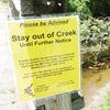 Heber Downs creek advisory