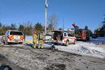 Crews battle fire in Kars