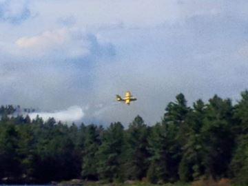 Water bomber over Algonquin Park