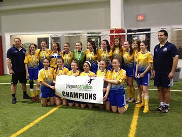 U16 Bayhawks girls win indoor championship