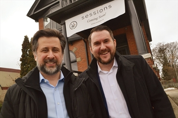 Louis Laskovski and Steven Fry will be opening a Sessions Cannabis retail store in Collingwood this December.