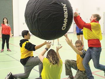 Kin-Ball getting off the ground at Penetanguishene school