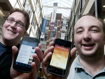 Andrew Holden, left, and Rob Porter, co-founders of Weever Apps photo