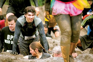 Gettin' muddy at Tough Mudder