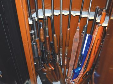 Weapons seized from Pelham home