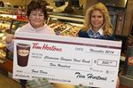 Tim Hortons donates to Stayner-Clearview Food Bank