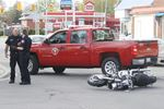 Motorcyclist injured