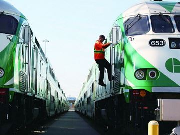 Go Trains stuck