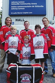 RAMS colours and logo for Stittsville Junior B's John Curry– Image 1