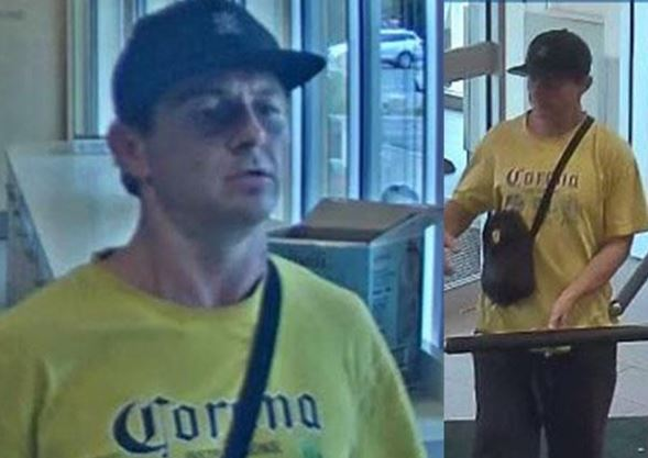'Running outside with a shopping basket': Suspected thief at Burlington plaza caught on camera