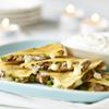 Mushroom and cheddar quesadillas great for a party