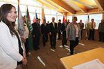 Flag-raising ceremony in Cobourg