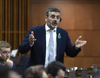 NDP MP Pierre Nantel rises during Question Period in the House of Commons on Parliament Hill in Ottawa on Wednesday, June 5, 2019. Nantel, who won his riding south of Montreal for the NDP in 2011 and in 2015, said if a Quebec independence referendum were held, he would vote yes. THE CANADIAN PRESS/Justin Tang