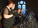 The Aurora United Handbell Quartet perform in Stouffville