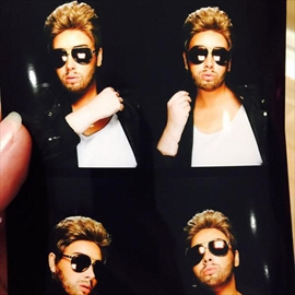 Adele dresses up as George Michael for birthday-Image1