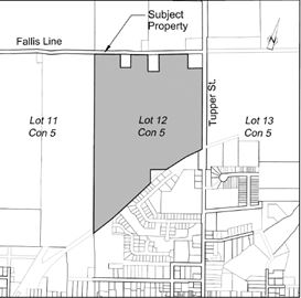 Location for proposed Towerhill subdivision
