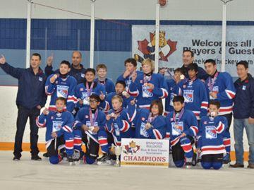 Peewee Blades win Bradford hockey tournament