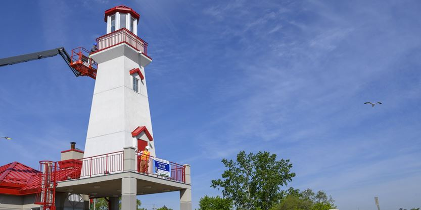 What's going on here? Port Credit Lighthouse in Mississauga