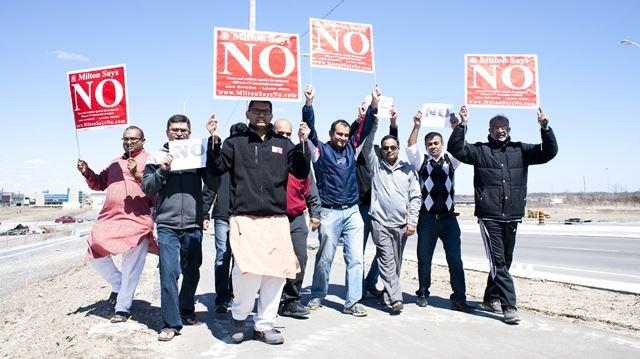 CN intermodal terminal protest in Milton