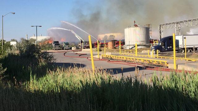 Paper factory fire