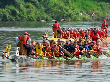 Thousands of people found their way to Fanshawe Lake on Saturday (June 15) to take in all the fun and excitement of the second annual Fanshawe Dragon Boat Festival, held in support of the London Health Sciences Centre.