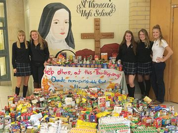 Food drive at Midland's St. Theresa's High School a whopping success