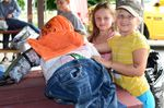 Meaford youth helping build scarecrows
