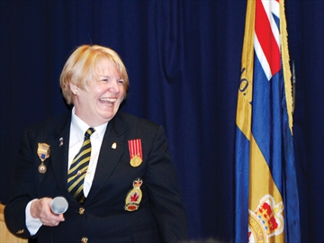 Uxbridge Legion president Sherrill Hodgson