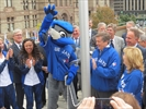 Raising the Toronto Blue Jays flag