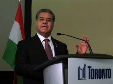 Kurdistan Regional Government of Iraq minister asks for weapons during Toronto visit-image1