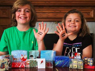 Valens siblings box up the Christmas spirit