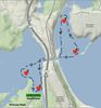 Paddle the Point Canoe Race map