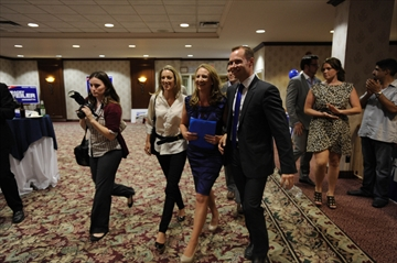 Progressive Conservative candidate Tracey Weiler enters the Waterloo ...
