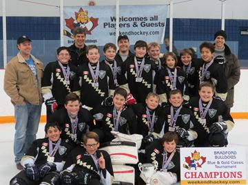 Peewee Warriors reign at Bradford hockey tournament