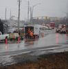 Sewer work on South Service Road