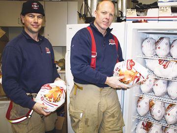 Firefighters talk turkey
