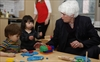 Liz Sandals with kids at the Y