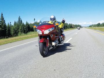 Midland man makes his way east on charity motorcycle ride