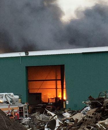 Scrap metal facility fire