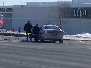 Police cruiser hits pedestrian