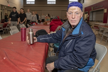 Wade Lewis, who is homeless, comes to Regeneration Outreach Community in Brampton almost daily for the free breakfasts and lunches the organization provides to the city's most vulnerable.