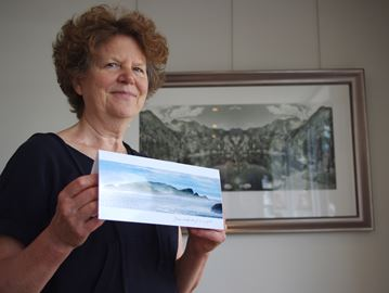 The Unlikely Collective group's artwork on display in Alliston
