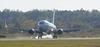 737 Jet Lands In Petrborough