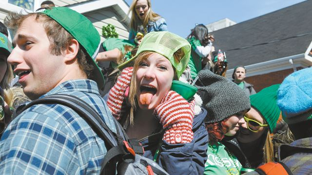 St Paddys Day Gallery Waterloo Pulls Stakes Patricks Party Tent