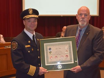 Fire Chief Paul Hutt awarded accreditation