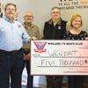 Midland Y's Men's Club donates to Wendat