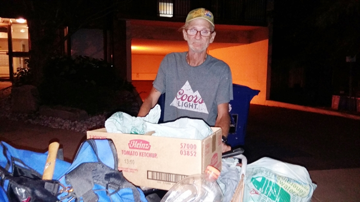 Joseph Parent, 69, says he works hard to make ends meet by collecting bottles in the Durand neighbourhood