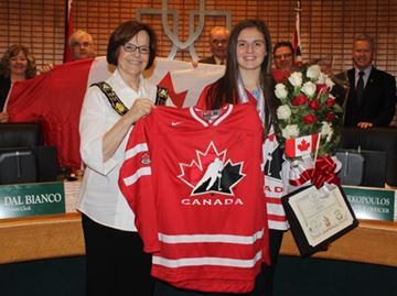 Berg honoured by town council