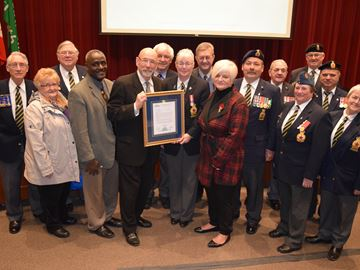 Legion members presented special plaque