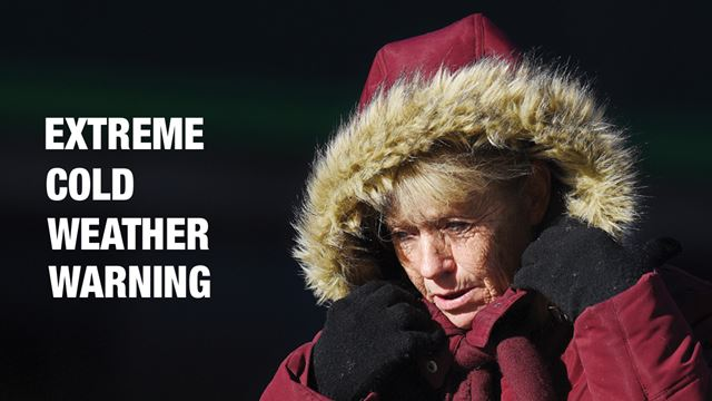 Extreme cold weather warning